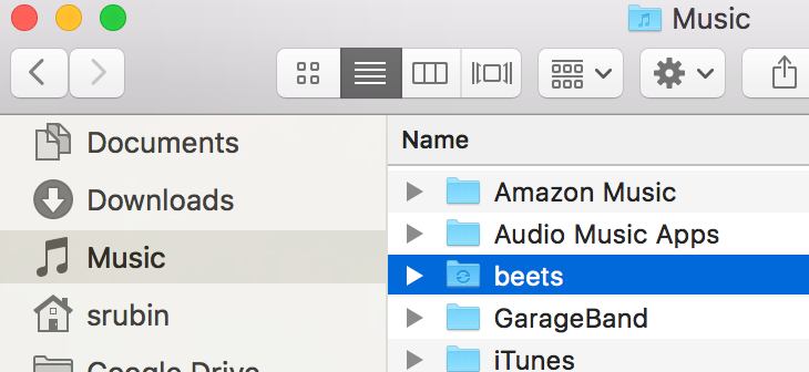 My beets music folder